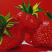 Strawberry Red Art Print