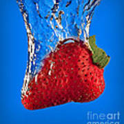 Strawberry Slam Dunk Art Print by Susan Candelario
