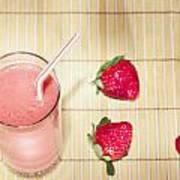 Strawberry Smoothie Art Print