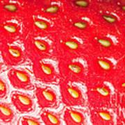 Strawberry Texture Art Print