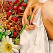 Strawberry Woman Art Print