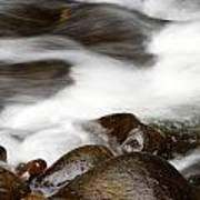 Stream Flowing  Print by Les Cunliffe