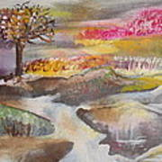 Stream In Early Winter Art Print