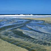 Stream On Beach Art Print