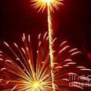Streaming Fireworks Art Print