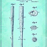 Streamlined Baseball Bat Or The Like Blue Us 2169774 A Art Print