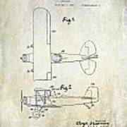 1929 Stearman Patent Drawing Art Print