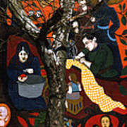 Street Art And Tree Art Print