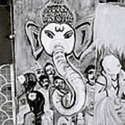 Urban Ganesh Art Print