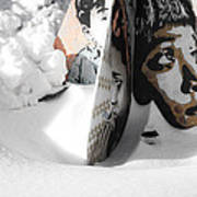Street Art In The Snow Art Print