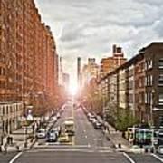 Street As Seen From The High Line Park Art Print