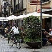 Street Corner Girona Spain Art Print