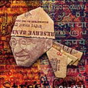 Street Gang Gandhi Art Print