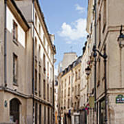 Street In Central Paris Art Print