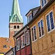 Street In Helsingor Denmark Art Print
