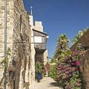 Street In Jaffa Tel Aviv Israel Art Print