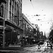 Street In Melbourne  Art Print