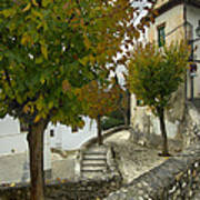 street in old Albaycin in Granada Art Print