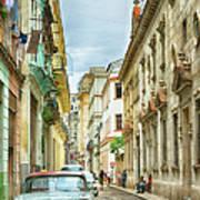 Street In Old Havana, Cuba, After Rain Art Print