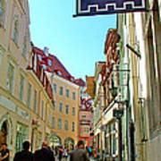 Street In Old Town Tallinn-estonia Art Print