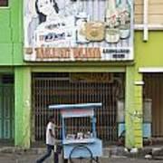 Street In Surabaya Indonesia Art Print