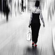 Street Lady Art Print