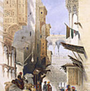 Street Leading To El Azhar, Grand Art Print
