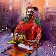 Street Musician In Marrakesh 01 Art Print