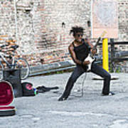 Street Musician Milan Italy Art Print