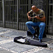Street Musician - Sao Paulo Art Print
