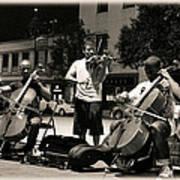 Street Musicians 2 Art Print