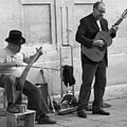 Street Musicians In Avignon Art Print