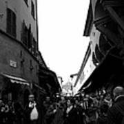 Street Of Florence Art Print