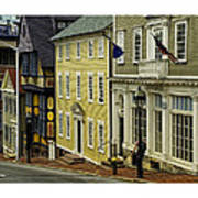 Street Of Many Colors In Providence Ri Art Print