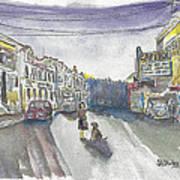 Street Scene - Capitol Theatre Art Print