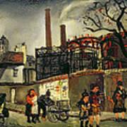 Street Scene In Paris, 1926 Art Print