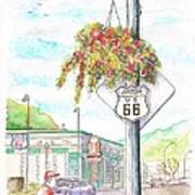 Street Sign In Route 66. Williams, Arizona Art Print