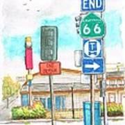 Street Signs In Route 66, San Bernardino, California Art Print