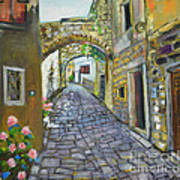 Street View In Pula Art Print