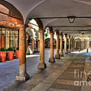 Street With Arches And Columns Art Print