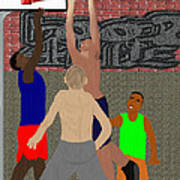 Streetball Shirts And Skins Hoopz 4 Life Art Print by Pharris Art