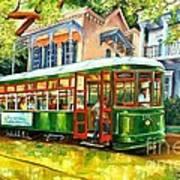 Streetcar On St.charles Avenue Art Print