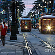 Streetcars On Canal Street Art Print