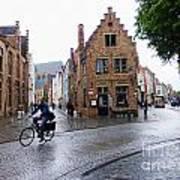 Streets Of Brugges 3 Art Print