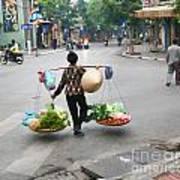 Streets Of Hanoi Art Print