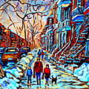 Streets Of Montreal Art Print