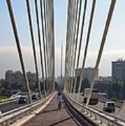 String Bridge In Seville Andalucia Art Print