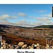 Strip Mining - Environment - Panorama - Labrador Art Print