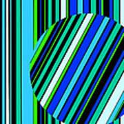Striped Circle  C2014 Art Print