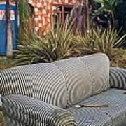 Striped Couch II Art Print